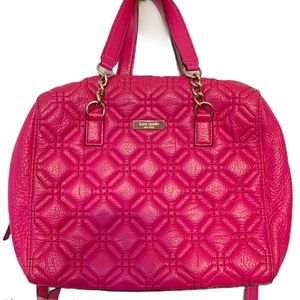 Kate Spade Astor Court Quilted Pink Leather Purse